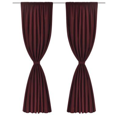 "vidaXL Blackout Curtains 2pcs Double Layer 55""x96"" Bordeaux Energy-saving[3/5]"