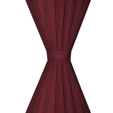 "vidaXL Blackout Curtains 2pcs Double Layer 55""x96"" Bordeaux Energy-saving[4/5]"