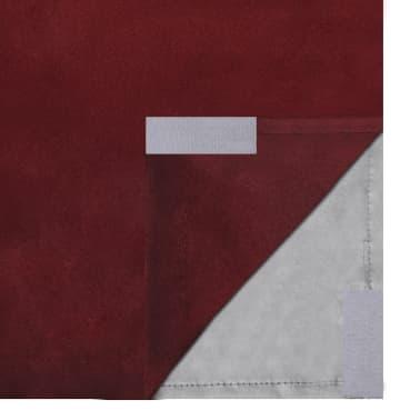 "vidaXL Blackout Curtains 2pcs Double Layer 55""x96"" Bordeaux Energy-saving[5/5]"