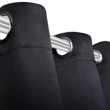 blackout gordijnen met metalen ringen 135 x 245 cm 2 stuks zwart4