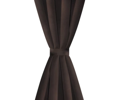 """2 pcs Brown Blackout Curtains with Metal Rings 53"""" x 96""""[3/4]"""