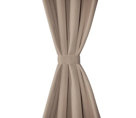 "2 pcs Cream Blackout Curtains with Metal Rings 53"" x 96""[3/4]"