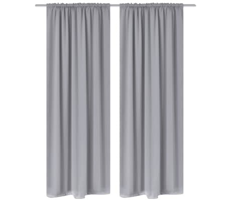vidaXL Gordijnen met gleuven 135 x 245 cm grijs 2 st