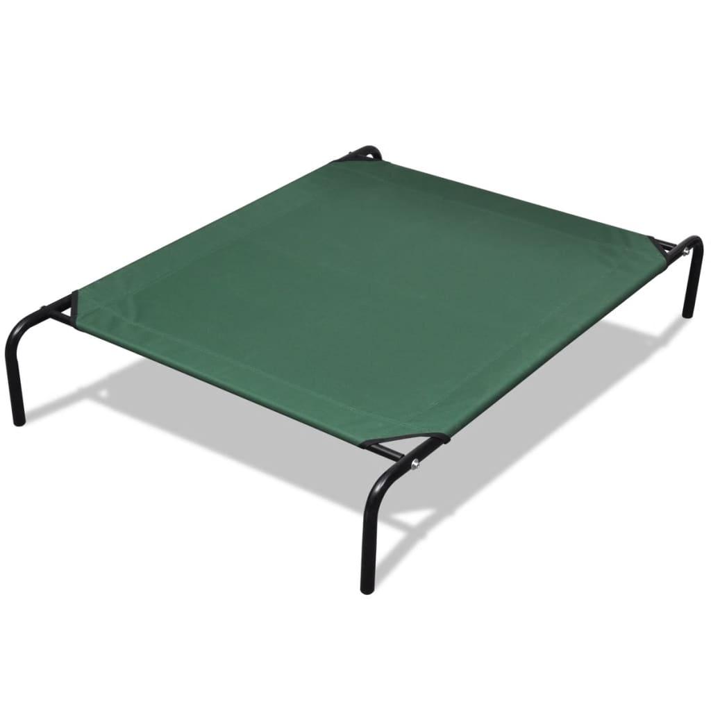 Zvýšená postel pro domácí zvířata s hliníkovým rámem 110 x 80 cm