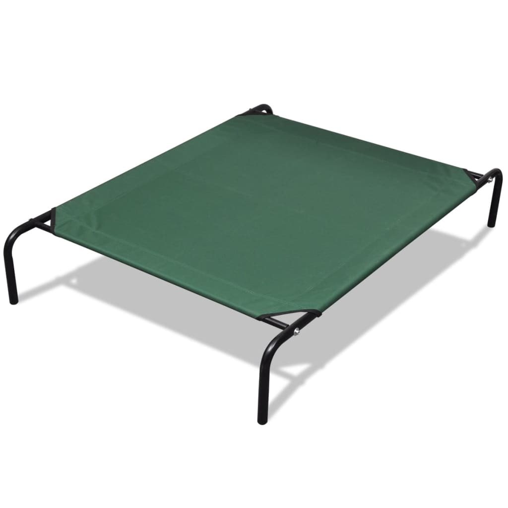 Zvýšená postel pro domácí zvířata s hliníkovým rámem 130 x 80 cm