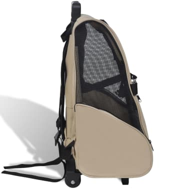 vidaXL Foldable Multipurpose Pet Trolley Beige[3/6]