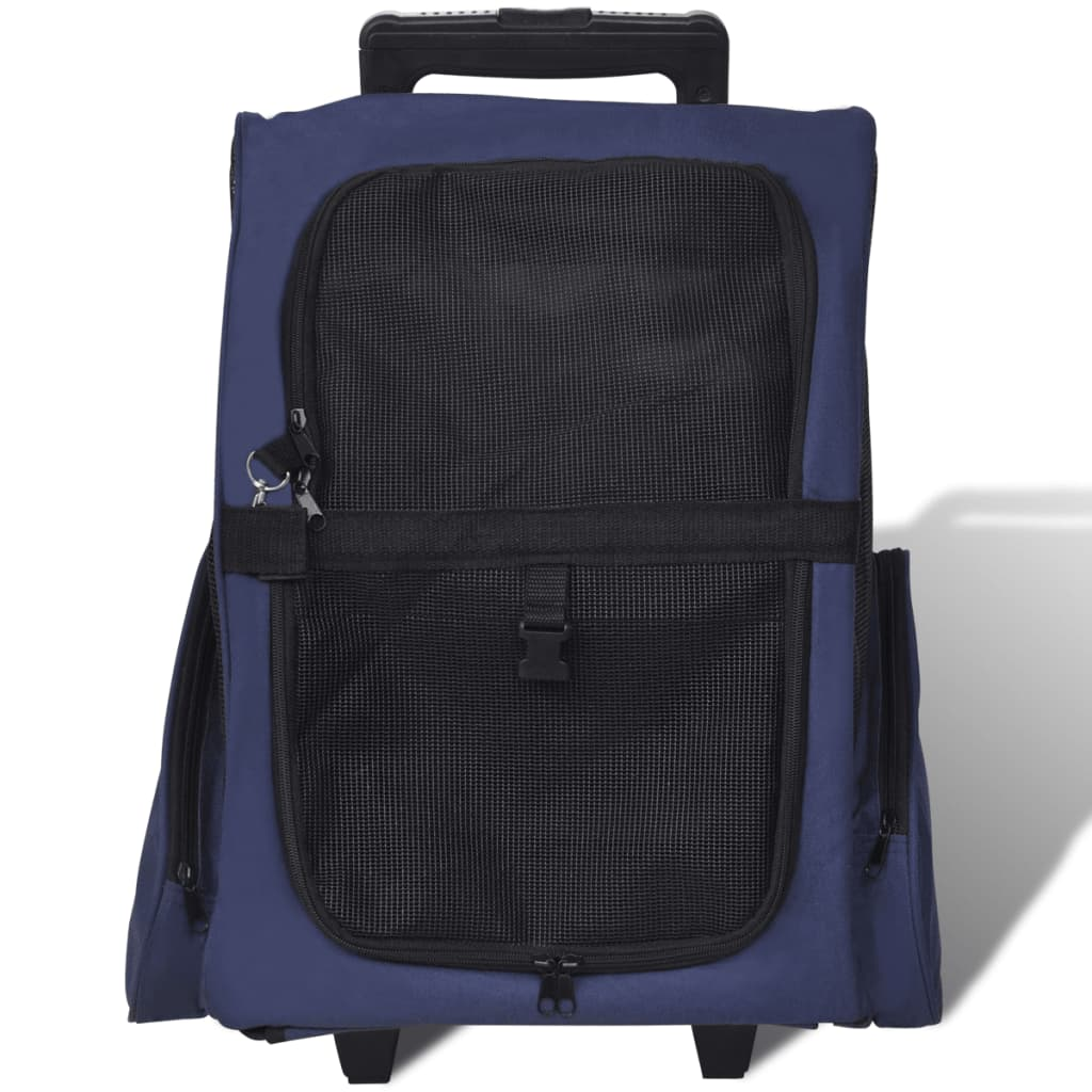 99170193 Multifunktionaler Haustiertrolley Zusammenfaltbar Blau