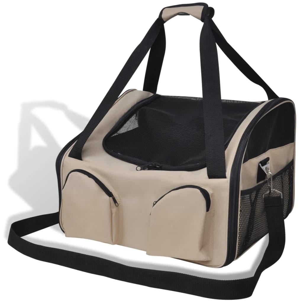 Taška pro domácí zvířata s popruhem přes rameno 40 x 35 x 25 cm