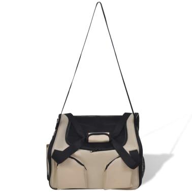 """Portable Pet Bag with Shoulder Strap 16.5"""" x 14.9"""" x 11.8""""[3/4]"""