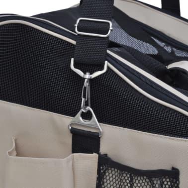 """Portable Pet Bag with Shoulder Strap 16.5"""" x 14.9"""" x 11.8""""[4/4]"""