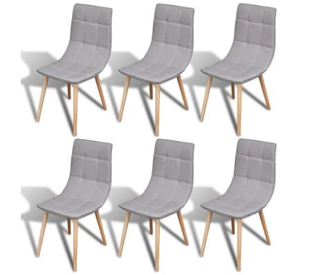 Acheter 6 pcs Chaise de salle à manger Gris clair pas cher | vidaXL.fr