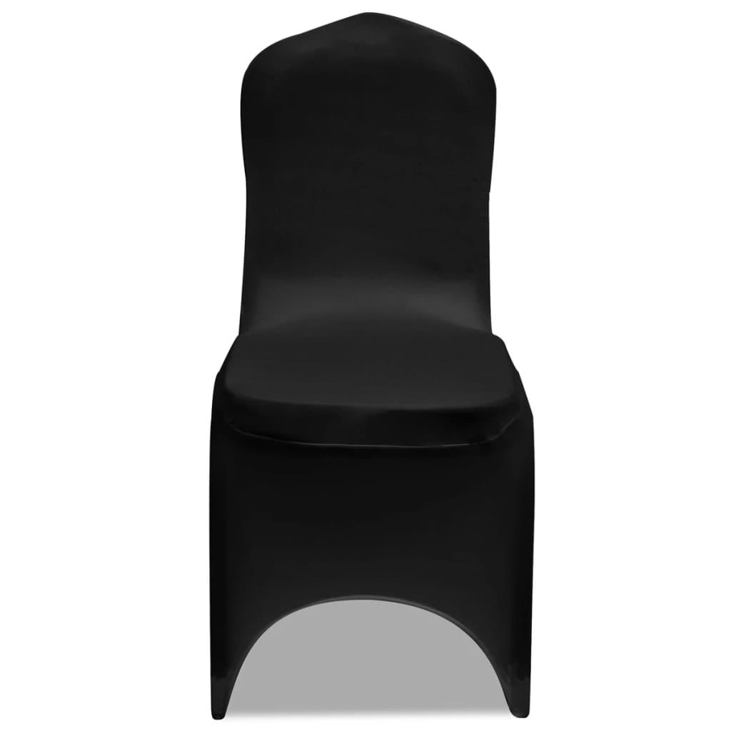50 ks černé strečové potahy na židle