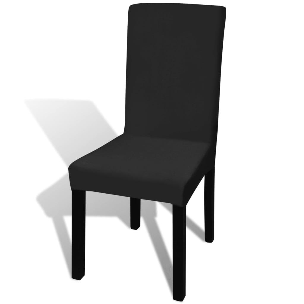 50 ks černé natahovací potahy na židle