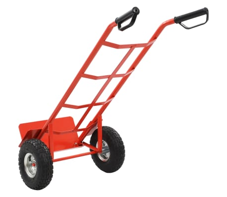 Red and Black Metal Foldable Cart[4/5]