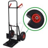 Steekwagen metaal (Zwart/Rood)