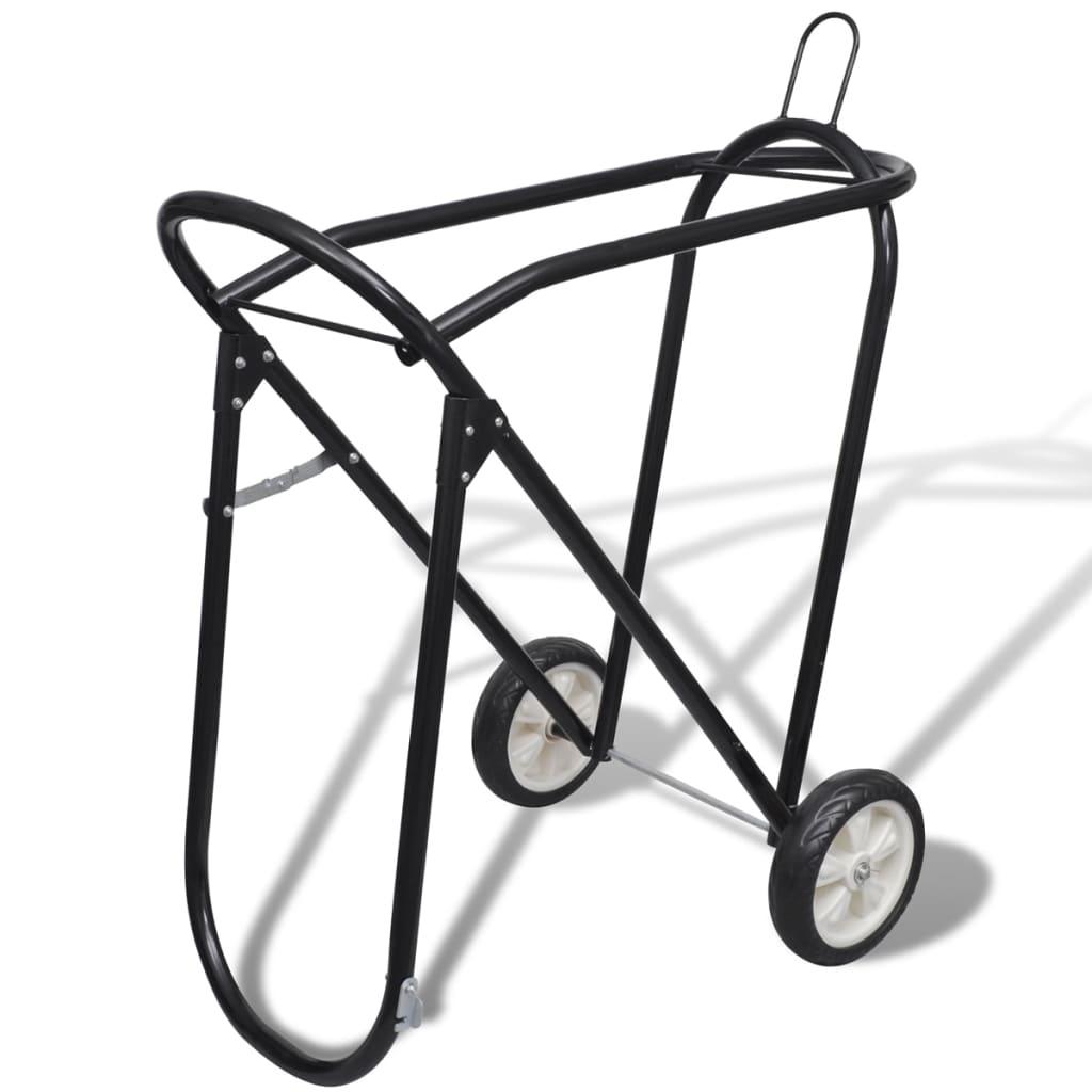 99141332 Sattelhalter aus Metall zusammenklappbar mit Rädern