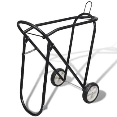 Metal Foldable Saddle Rack with Wheels[1/5]