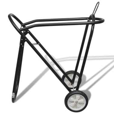 Metal Foldable Saddle Rack with Wheels[2/5]