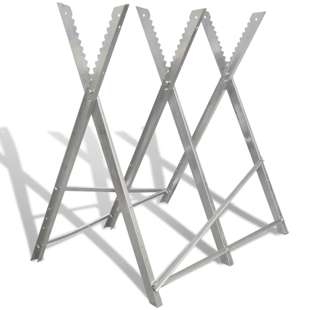 Pozinkovaná stolička pro řezání dřeva, skládací