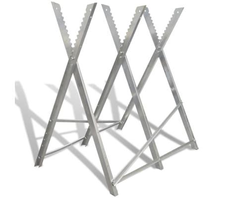 Foldable Galvanized Saw Horse For Woodworking Vidaxl Com Au