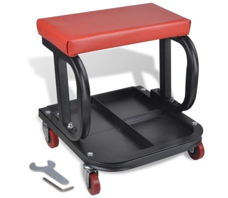 werkstatthocker werkstattsitz rollwagen mit werkzeugablage g nstig kaufen. Black Bedroom Furniture Sets. Home Design Ideas