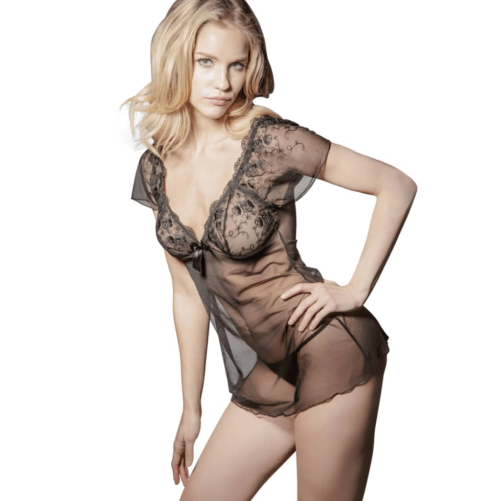 2 ks Sexy spodní prádlo, souprava košilka a tanga, velikost S/M