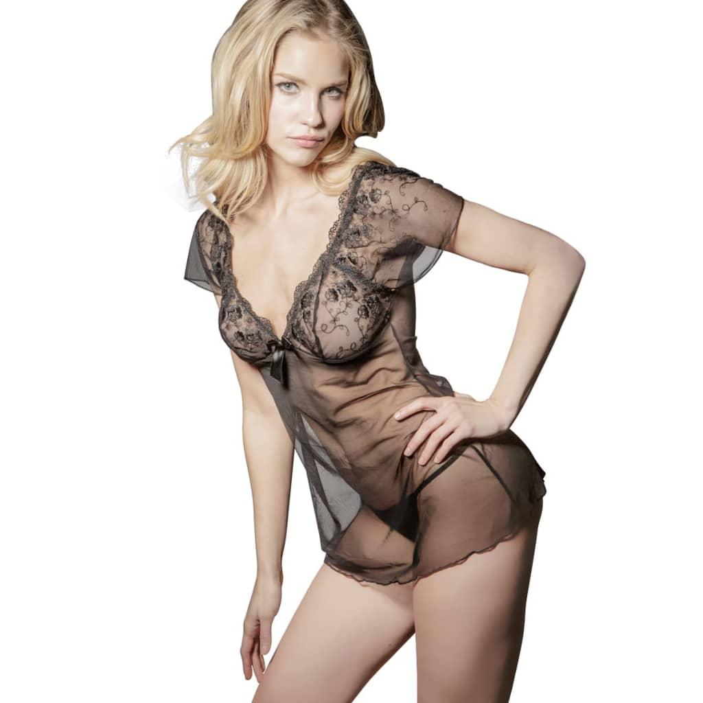 2 ks Sexy spodní prádlo, souprava košilka a tanga, velikost L/XL
