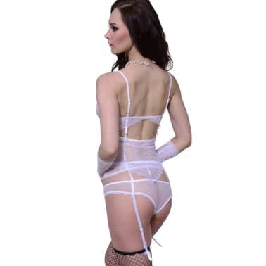 Ensemble lingerie sexy blanc 3 pièces taille L / XL[2/3]