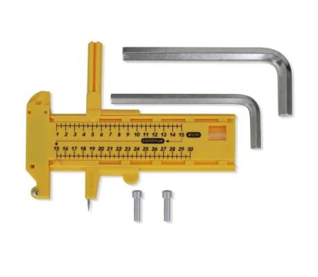 vidaXL Buttonmaschine 44 mm mit Kreisschneider und 500 Buttonrohlingen[3/8]