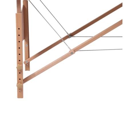 vidaXL Table pliable de massage Bleu 2 zones avec cadre en bois[4/8]