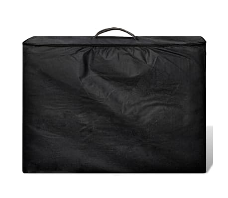 Κρεβάτι μασάζ Πτυσσόμενο 2 θέσεων με ξύλινο σκελετό Μαύρο[2/8]
