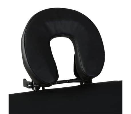 vidaXL massagebord sammenfoldeligt 2 zoner træstel sort[3/8]