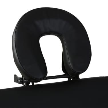 Κρεβάτι μασάζ Πτυσσόμενο 2 θέσεων με ξύλινο σκελετό Μαύρο[3/8]