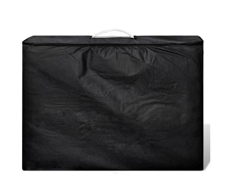 Κρεβάτι μασάζ Πτυσσόμενο 2 θέσεων με ξύλινο σκελετό Κρεμ[2/8]