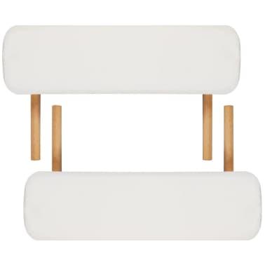 Κρεβάτι μασάζ Πτυσσόμενο 2 θέσεων με ξύλινο σκελετό Κρεμ[7/8]