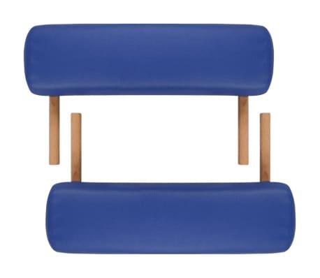 vidaXL Table pliable de massage Bleu 3 zones avec cadre en bois[6/8]