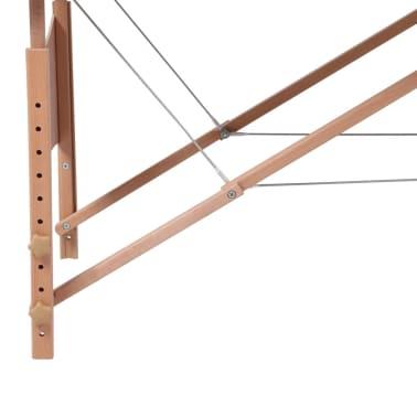 vidaXL Table pliable de massage Bleu 3 zones avec cadre en bois[4/8]