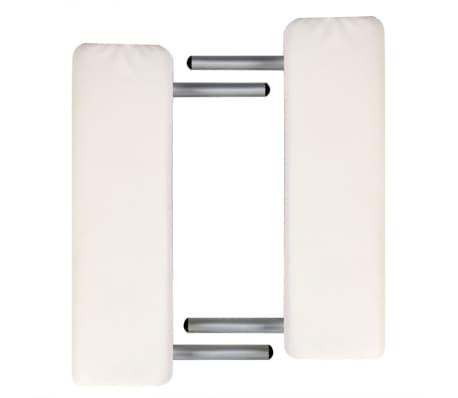 Table de Massage Pliante 2 Zones Crème Cadre en Aluminium[2/6]