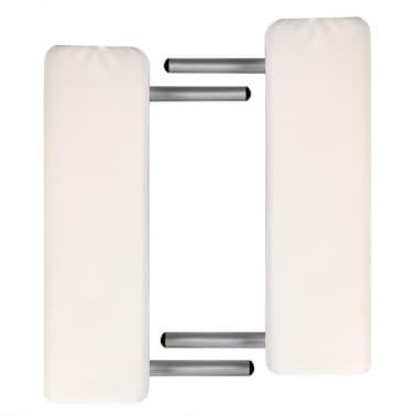 Massagetisch mit Aluminiumrahmen, faltbar 2 Zonen Creme-Weiß[2/6]