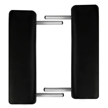 vidaXL Hopfällbar massagebänk med 2 sektioner aluminium svart[4/6]