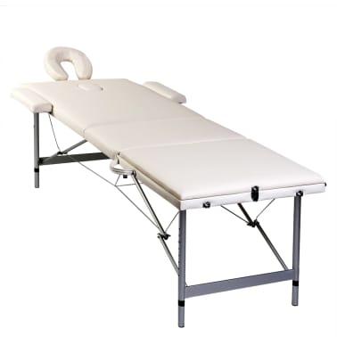 Acheter table de massage pliante 3 zones cr me cadre en - Table de massage pliante aluminium pas cher ...