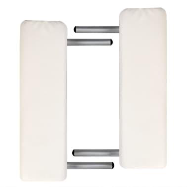 Massagetisch mit Aluminiumrahmen, faltbar 3 Zonen Creme-Weiß[6/7]