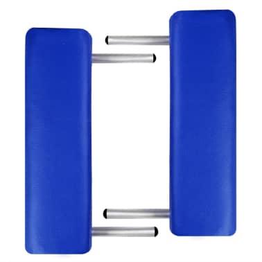 Masă de masaj pliabilă cadru din aluminiu 3 părți Albastru[4/7]