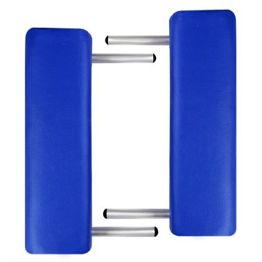 Table de Massage Pliante 3 Zones Bleu Cadre en Aluminium[4/7]