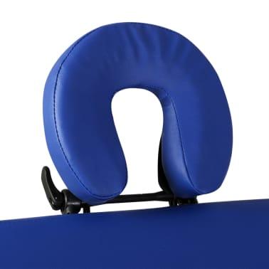 Masă de masaj pliabilă cadru din aluminiu 3 părți Albastru[7/7]