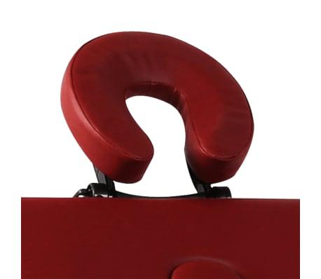 Table de Massage Pliante 3 Zones Rouge Cadre en Aluminium[3/7]