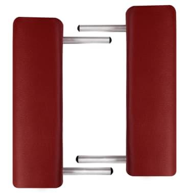 Table de Massage Pliante 3 Zones Rouge Cadre en Aluminium[5/7]