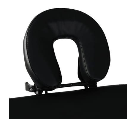 Črna zložljiva masažna miza z 3 območji in aluminjastim okvirjem[4/7]