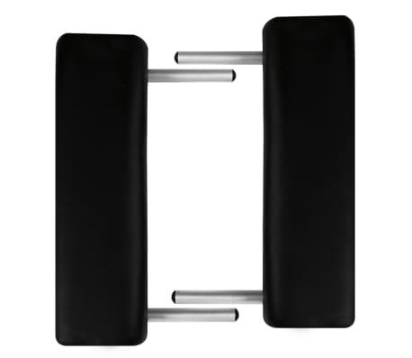 Črna zložljiva masažna miza z 3 območji in aluminjastim okvirjem[5/7]