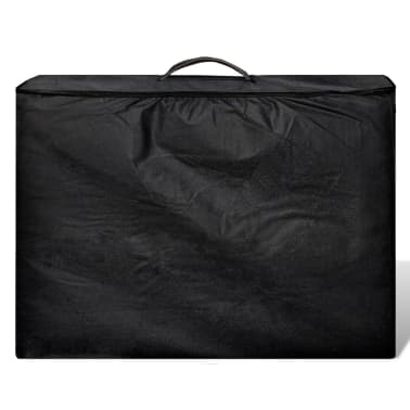 vidaXL Hopfällbar massagebänk med 3 sektioner aluminiumram svart[6/7]